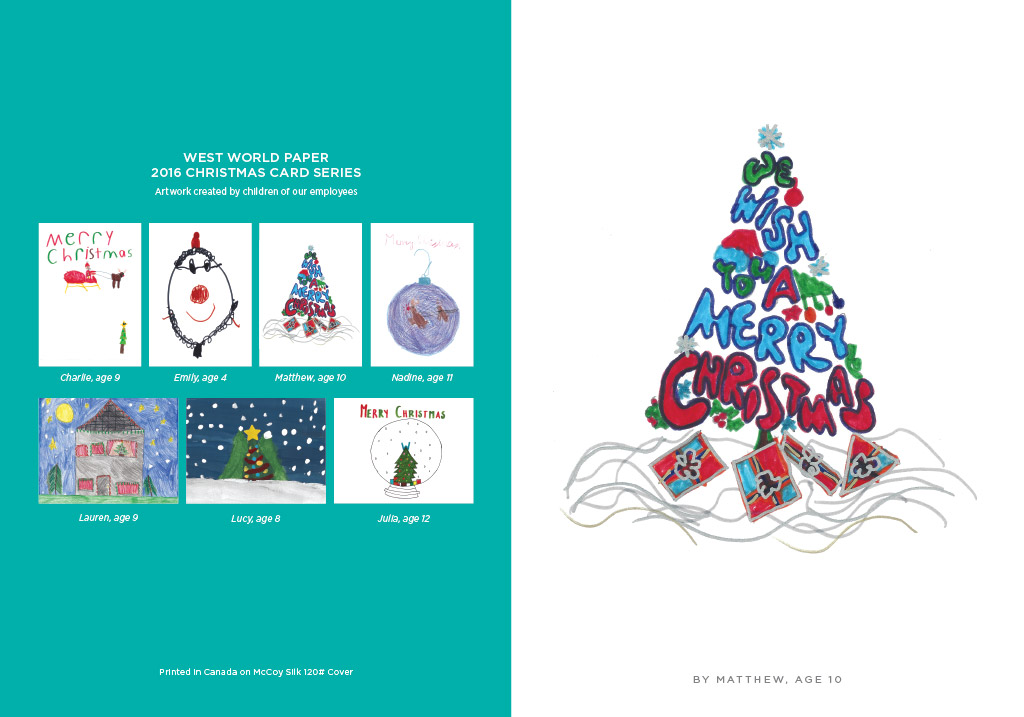 west world paper christmas cards 2016